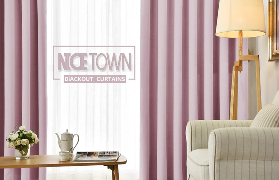 Pink Nicetown blackout curtains