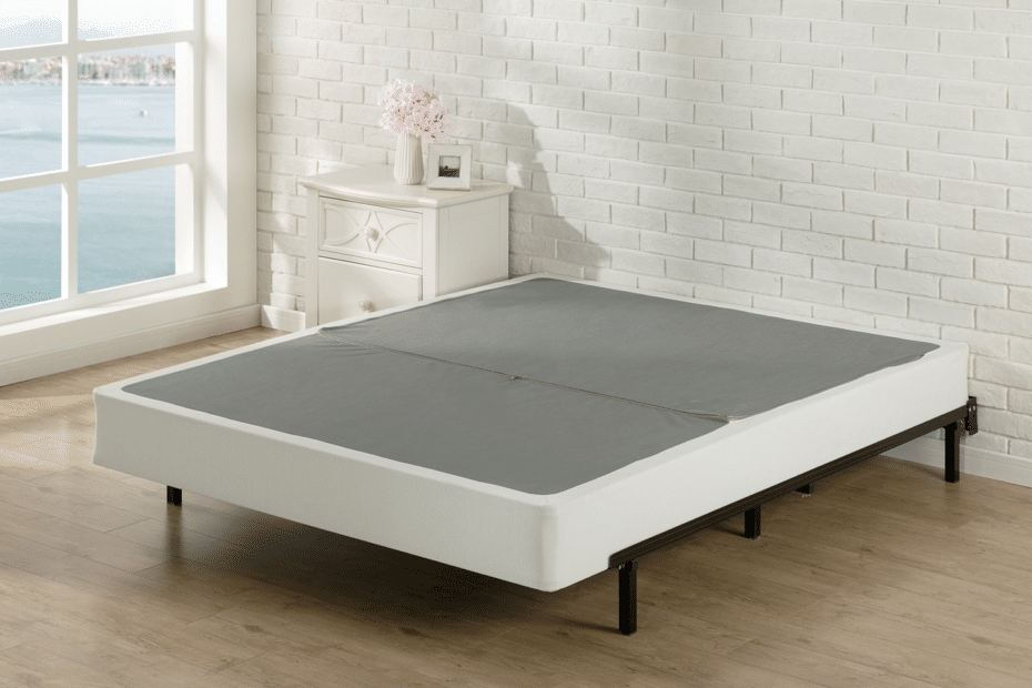 Signature Sleep box spring on hardwood floor