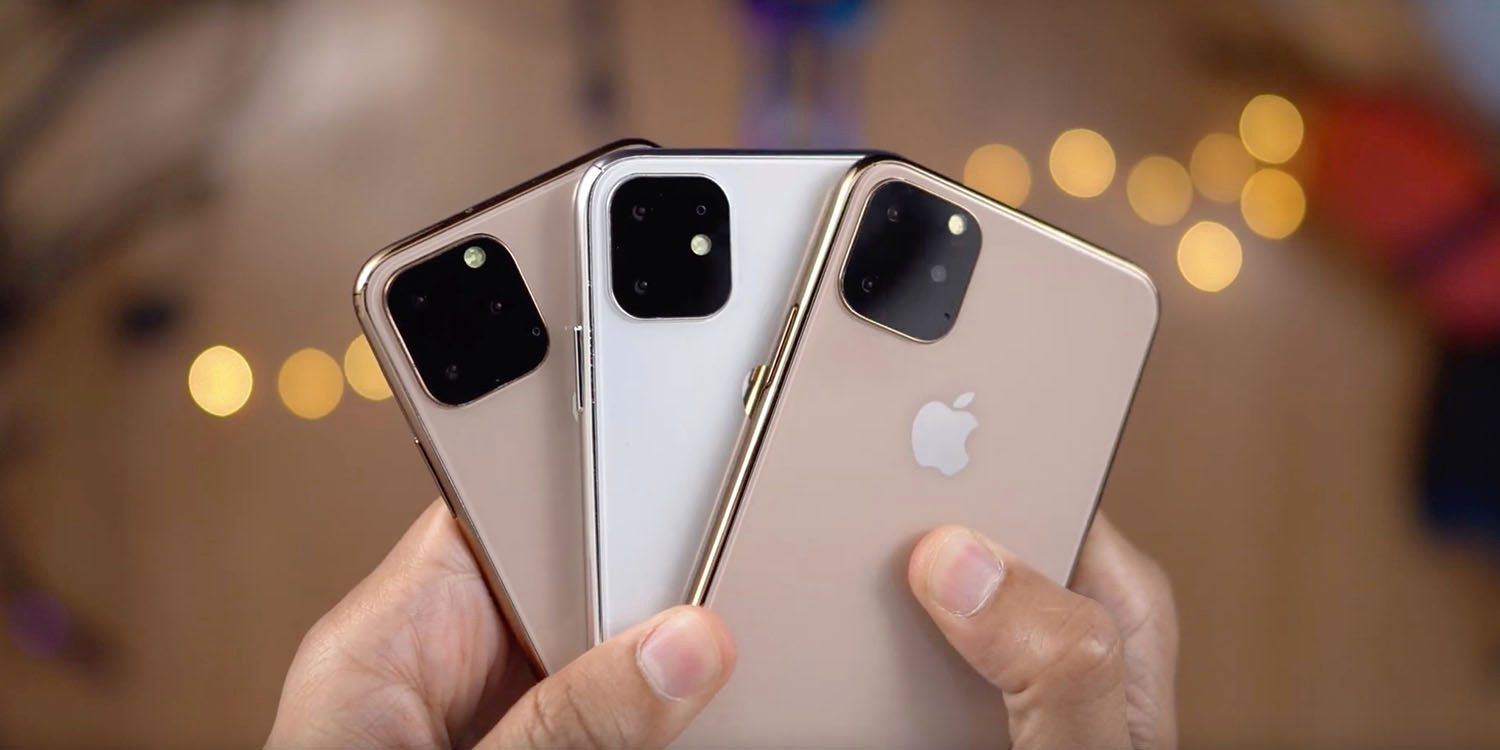 Three iphones in a person's hands