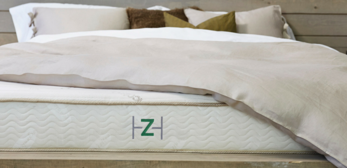 Close-up view of the ZenHaven with bedding