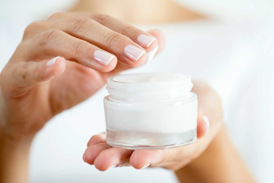 Night cream in a bottle