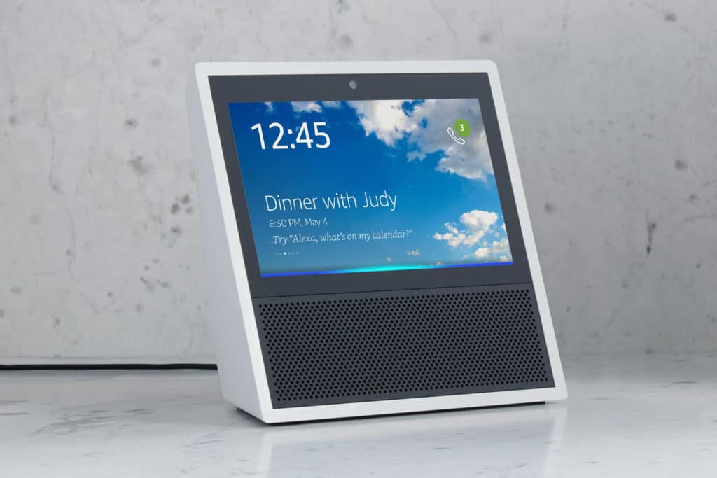 Amazon Echo Show on table
