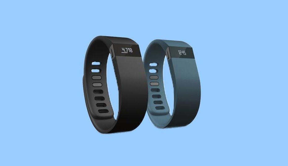 Fitbit on a blue background