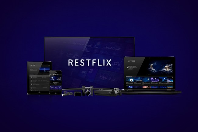 Restflix streaming service on various devices
