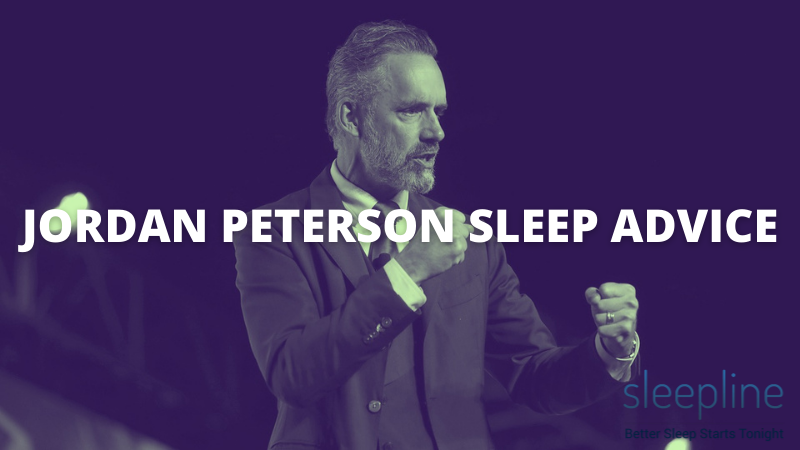 Jordan Peterson giving sleep advice