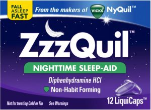 Vicks Zzzquil LiquiCaps package