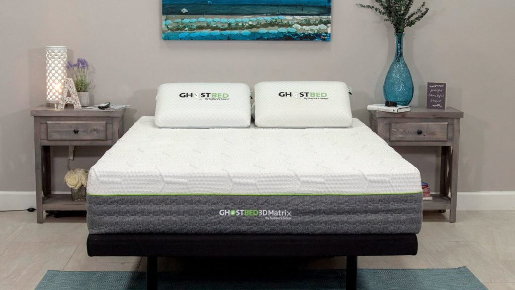 GhostBed 3D matrix mattress for back sleepers