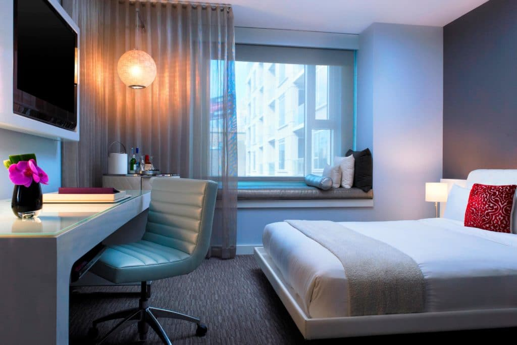 W Hotels room with mattress