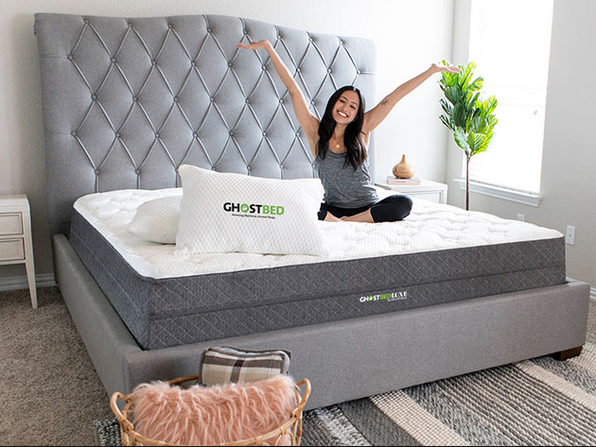 girl on ghostbed luxe