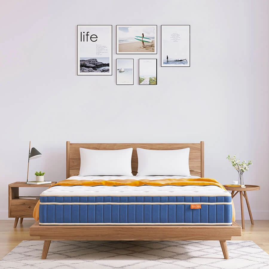 sweet night ocean blue hybrid mattress