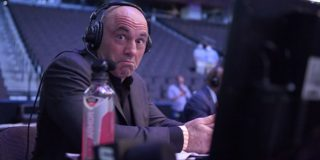 Joe Rogan at the octagon