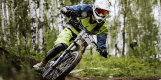 motocross athlete driving outdoors