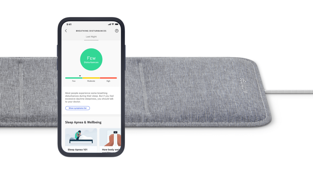 Withings Sleep Tracking Mat with smartphone app