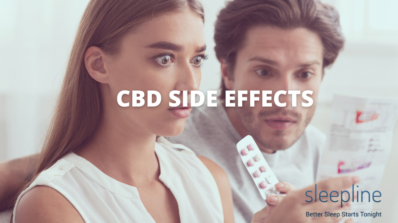 Person looking at CBD side effects